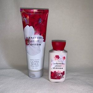 NEW Japanese Cherry Blossom Lotion and Cream set